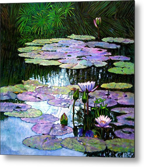 Landscape Metal Print featuring the painting Expressions of Love and Peace by John Lautermilch