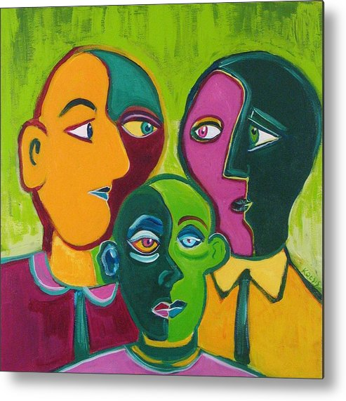 Family Metal Print featuring the painting Family of Three by Rollin Kocsis
