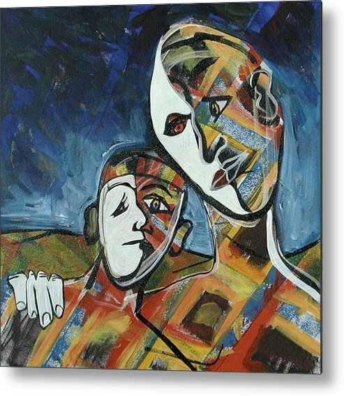 Father Metal Print featuring the painting Father and Son by Rollin Kocsis