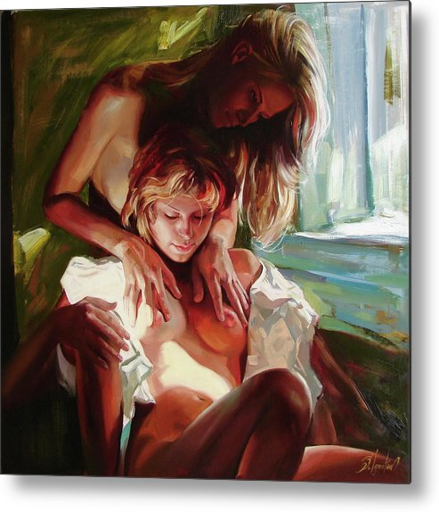 Ignatenko Metal Print featuring the painting Female secrets by Sergey Ignatenko