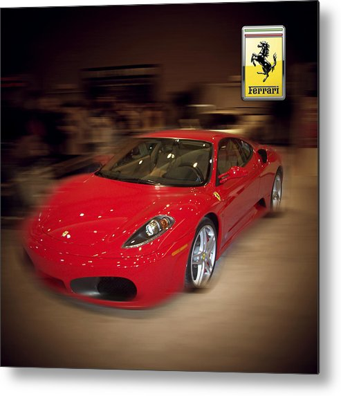 �auto Corner� Collection By Serge Averbukh Metal Print featuring the photograph Ferrari F430 - The Red Beast by Serge Averbukh