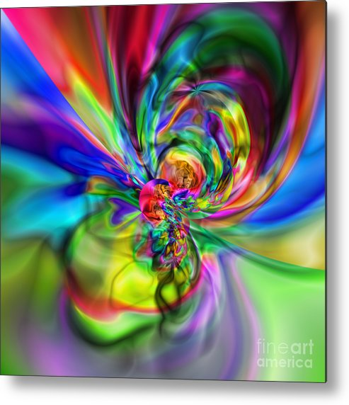 Zen Metal Print featuring the digital art Flexibility 17CAA by Rolf Bertram