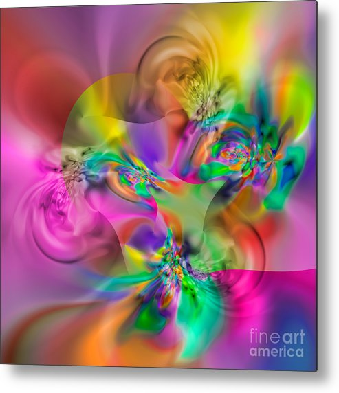 Abstract Metal Print featuring the digital art Flexibility 34EAA by Rolf Bertram
