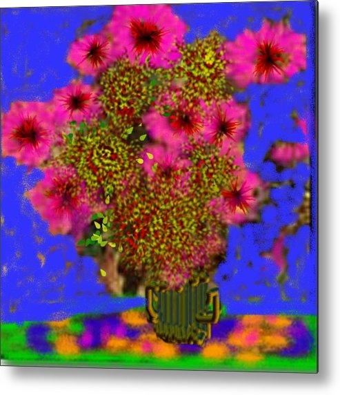 Flowers Metal Print featuring the digital art Flowers on the table by Dr Loifer Vladimir