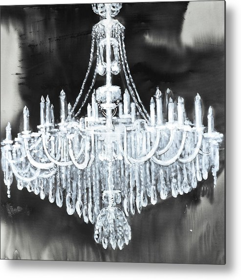 Big Glam Chandelier Poster Print by Atelier B Art Studio 12 x 12