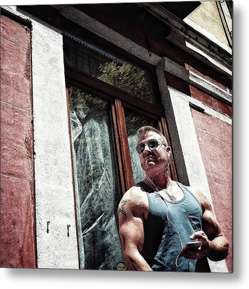 People Metal Print featuring the photograph Go Vegan!  #man #beef #muscle #gym by Rafa Rivas