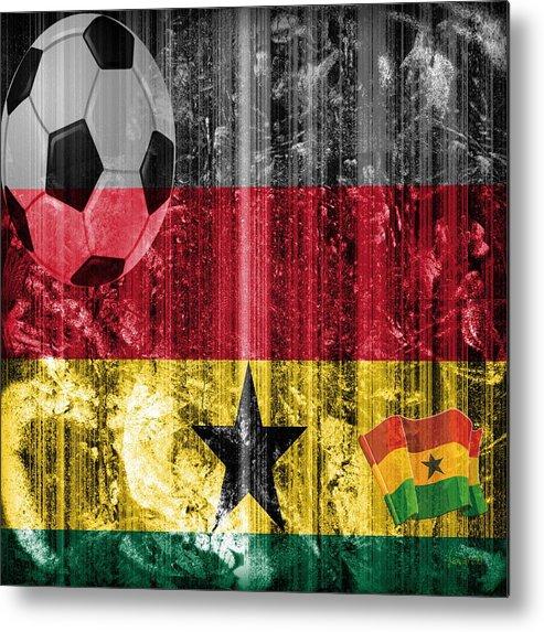 Fania Simon Metal Print featuring the digital art GOLLLL - Ghana by Fania Simon