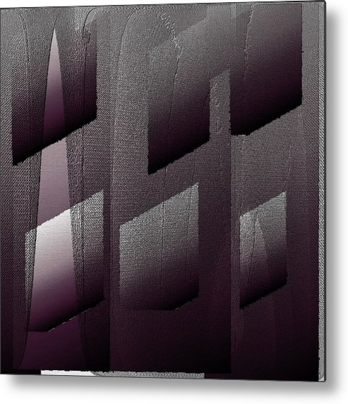 Digital Metal Print featuring the digital art Haus aus Beton by Ilona Burchard