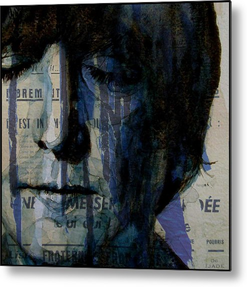 John Lennon Metal Print featuring the painting I Read The News Today Oh Boy by Paul Lovering
