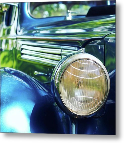 Antique Metal Print featuring the photograph Vintage Packard by Heidi Hermes