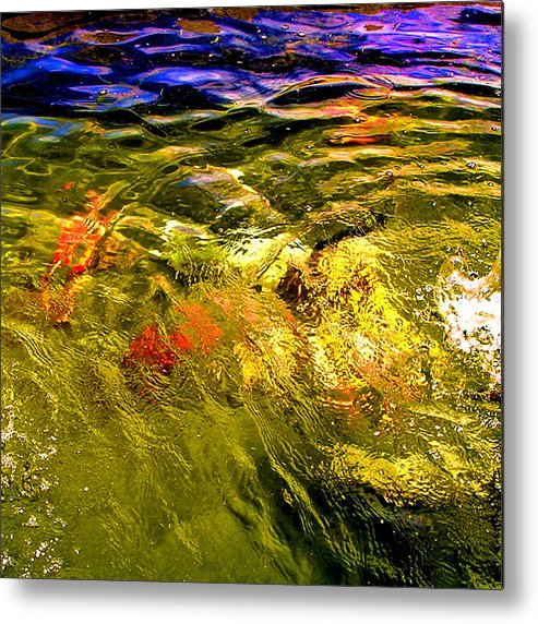 Wave Metal Print featuring the photograph In The Flow 2 by Michael Durst