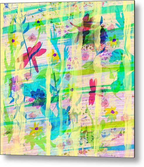 Abstract Metal Print featuring the digital art In the Garden by William Russell Nowicki