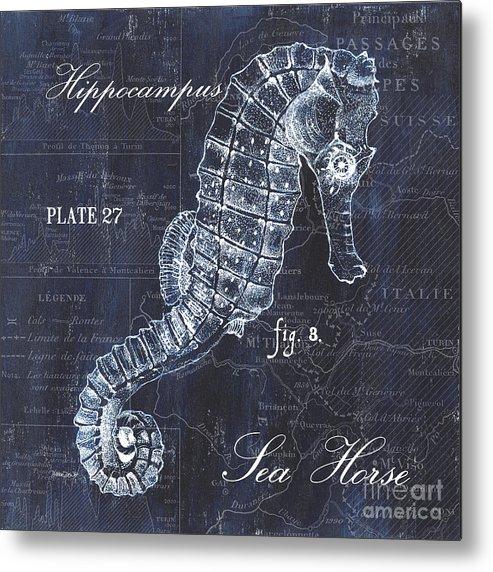 Seahorse Metal Print featuring the painting Indigo Verde Mar 1 by Debbie DeWitt