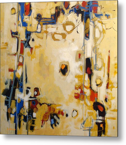 Abstract Metal Print featuring the painting Intangible by Dale Witherow