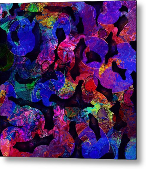 Abstract Metal Print featuring the digital art Intestinal Hallucinations by William Russell Nowicki