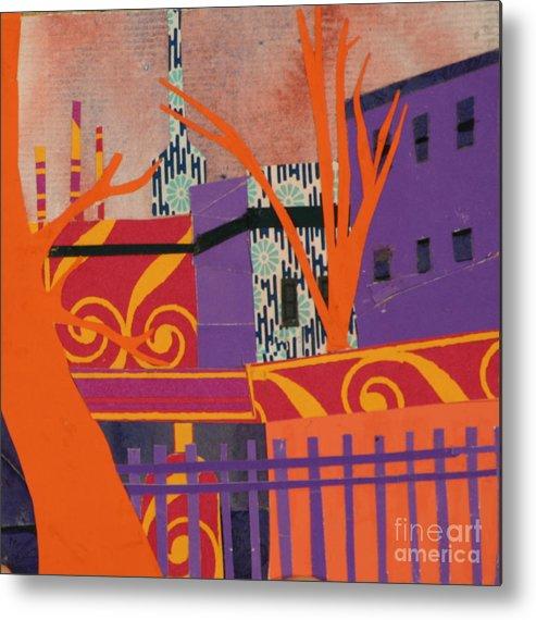 Boston Metal Print featuring the mixed media Isabella's Garden by Debra Bretton Robinson