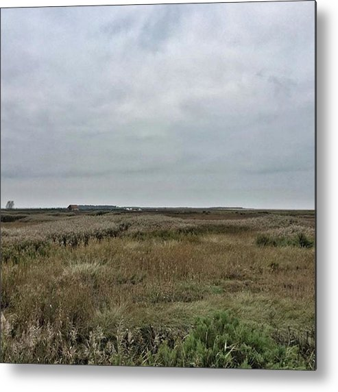 Natureonly Metal Print featuring the photograph It's A Grey Day In North Norfolk Today by John Edwards