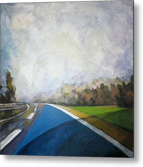 Landscape Metal Print featuring the painting Just That by Mima Stajkovic