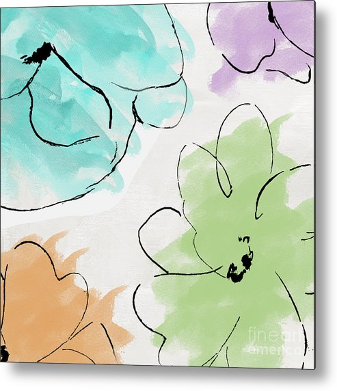 Abstract Metal Print featuring the painting Kasumi by Mindy Sommers