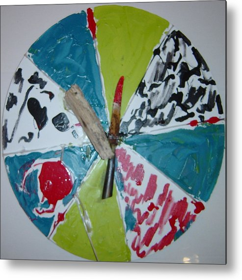 Metal Print featuring the painting Knife and beachfindings by Biagio Civale