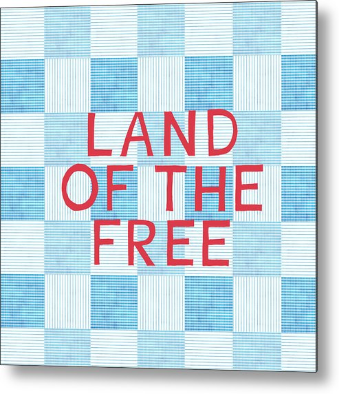Land Of The Free Metal Print featuring the painting Land Of The Free by Linda Woods