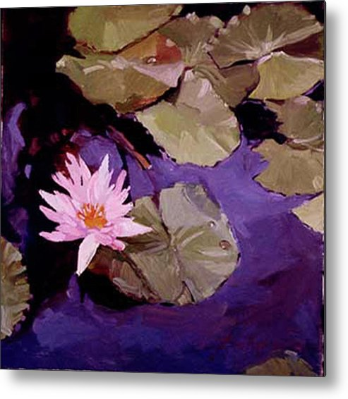 Water Lily Paintings Metal Print featuring the painting Lily Pad by Betty Jean Billups