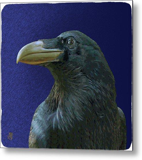 Raven As Loki The Mischief Maker. Metal Print featuring the digital art Loki by John Helgeson