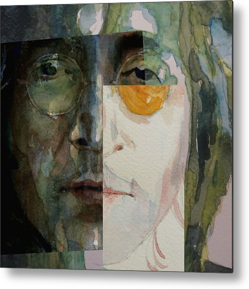 John Lennon Metal Print featuring the painting Look @ Me by Paul Lovering