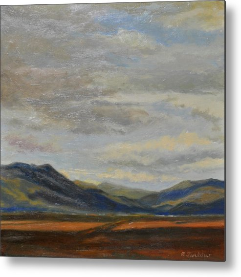 Landscape Metal Print featuring the painting Looking Toward Taos by Phyllis Tarlow