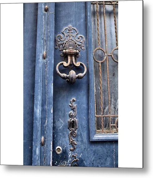 Europe Metal Print featuring the photograph #love #france #doors #blue #europe by Georgia Fowler