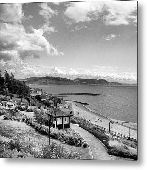 Blackandwhitephotography Metal Print featuring the photograph Lyme Regis And Lyme Bay, Dorset by John Edwards