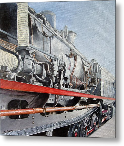 Train Metal Print featuring the painting Maquina de Vapor by Tomas Castano