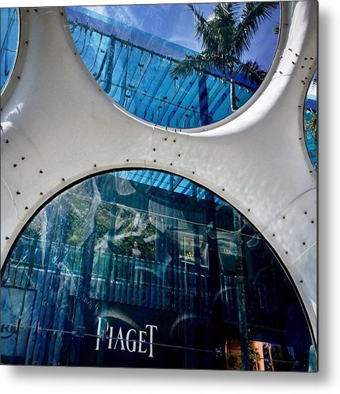 Miamiarchitecturephotography Metal Print featuring the photograph Miami Design District #juansilvaphotos by Juan Silva