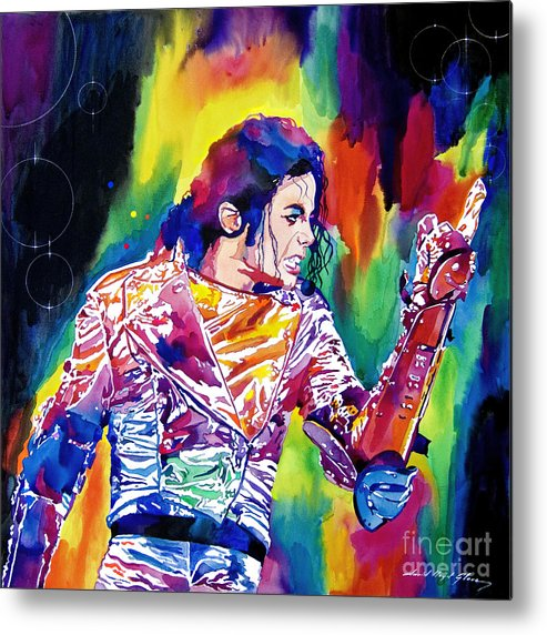 Michael Jackson Metal Print featuring the painting Michael Jackson Showstopper by David Lloyd Glover