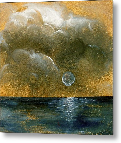 Moon Metal Print featuring the painting Moon Scape by Karen Doyle