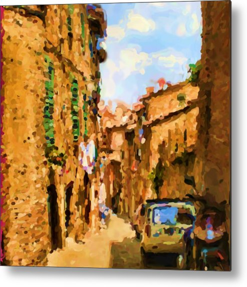 Sienna Metal Print featuring the photograph Noon in Sienna by Asbjorn Lonvig