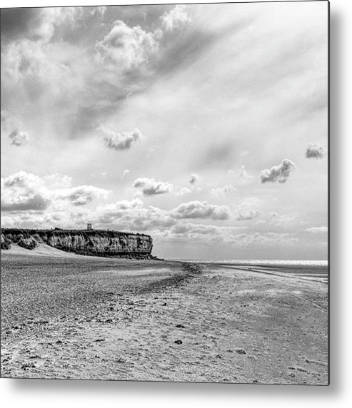 Eastanglia Metal Print featuring the photograph Old Hunstanton Beach, Norfolk by John Edwards