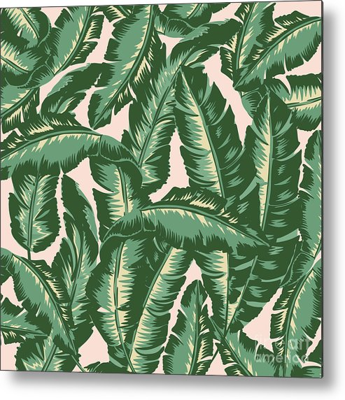 Leaves Metal Print featuring the digital art Palm Print by Lauren Amelia Hughes