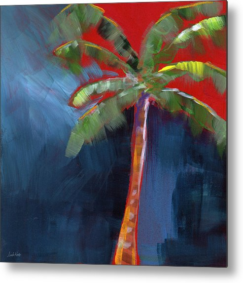 Palm Tree Metal Print featuring the painting Palm Tree- Art by Linda Woods by Linda Woods