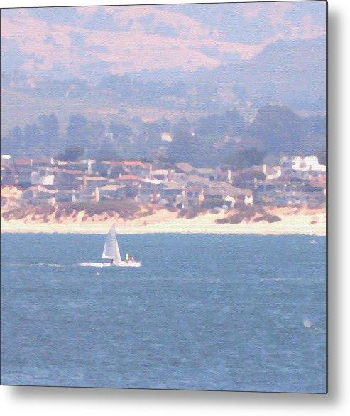 Sailing Metal Print featuring the photograph Pastel Sail by Pharris Art