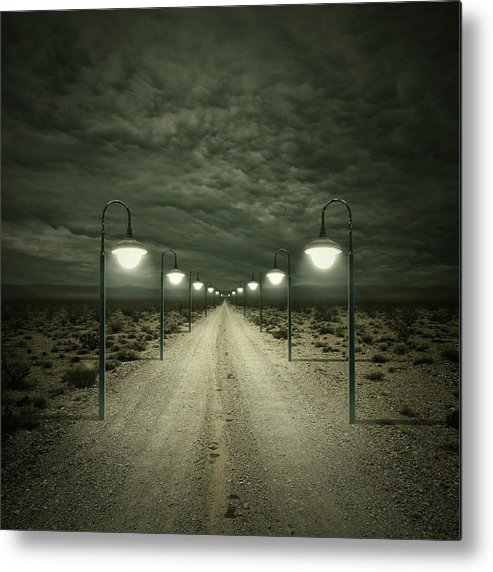 Dark Metal Print featuring the digital art Path by Zoltan Toth