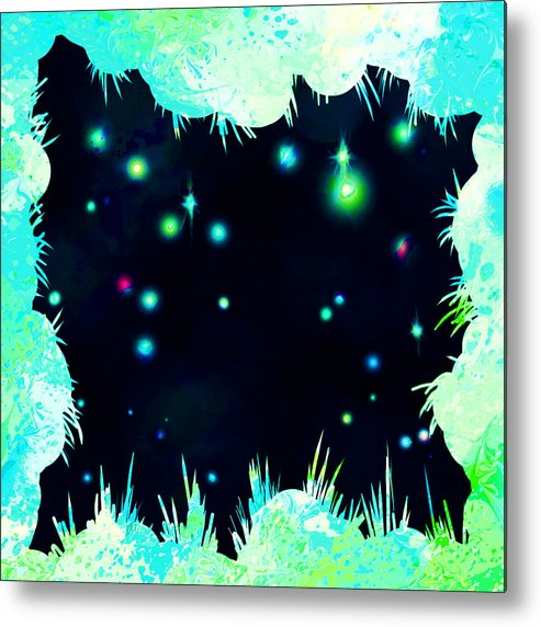 Abstract Metal Print featuring the digital art Peeking In by William Russell Nowicki