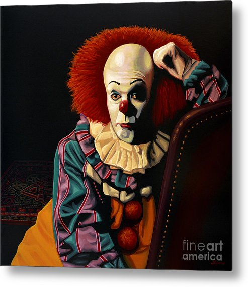 Pennywise Metal Print featuring the painting Pennywise by Paul Meijering