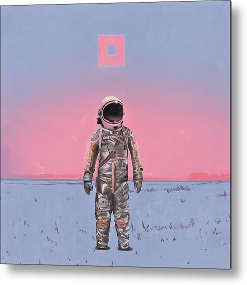 Space Metal Print featuring the painting Pink Square by Scott Listfield