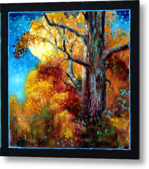 Fall Metal Print featuring the painting Planets Image Six by John Lautermilch
