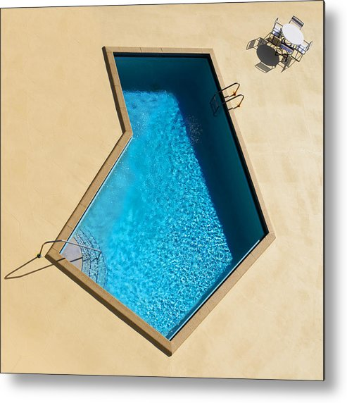 Swimming Pool Metal Print featuring the photograph Pool Modern by Laura Fasulo