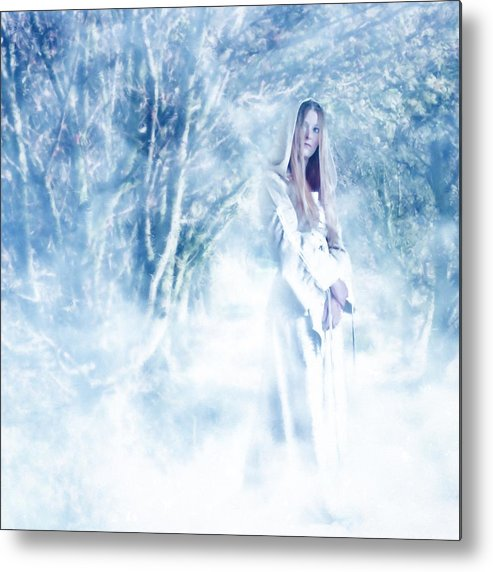 Woodland Metal Print featuring the photograph Priestess by John Edwards