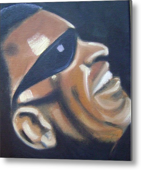 Ray Charles Metal Print featuring the painting Ray Charles by Toni Berry