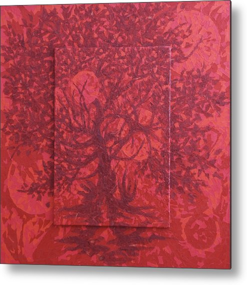 Red Metal Print featuring the painting Red Planet by Judy Henninger