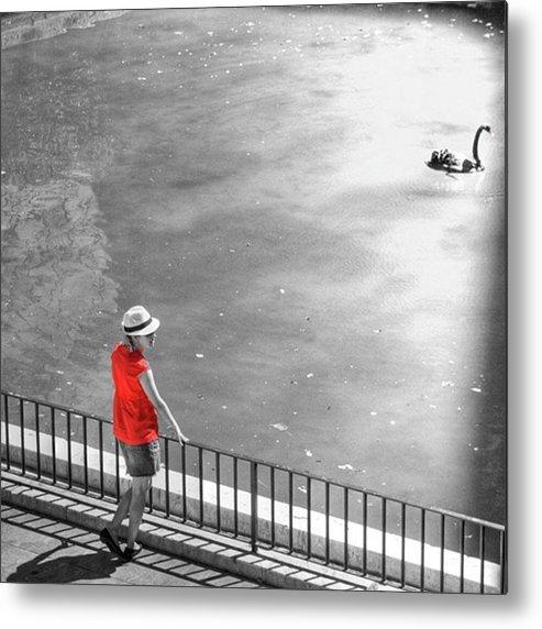 Palmademallorca Metal Print featuring the photograph Red Shirt, Black Swanla Seu, Palma De by John Edwards